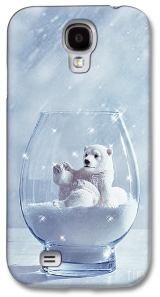 Polar Bear In Snow Globe Galaxy S4 Case by Amanda Elwell