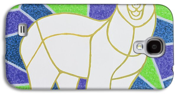 Polar Bear On Stained Glass Galaxy S4 Case by Pat Scott