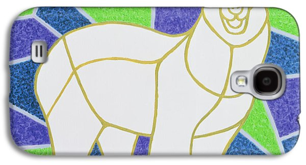 Polar Bear On Stained Glass Galaxy S4 Case