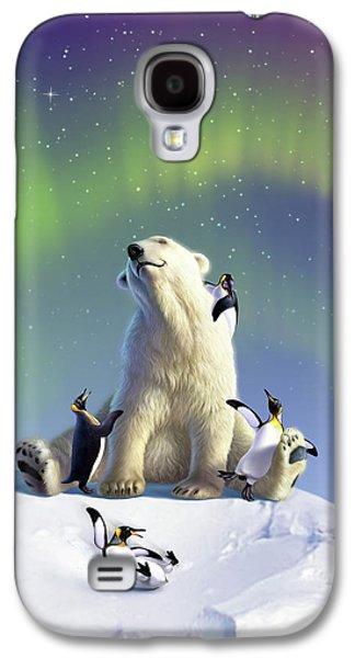 Polar Bear Galaxy S4 Case - Polar Opposites by Jerry LoFaro