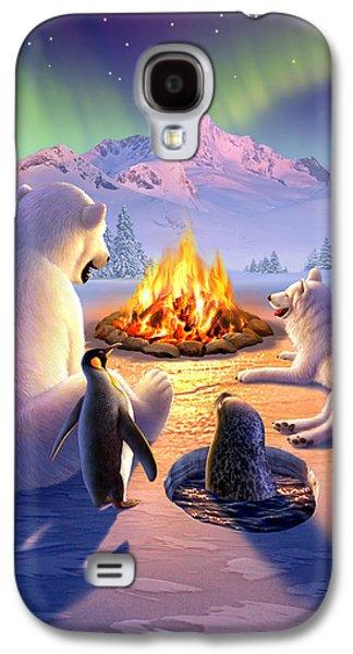 Polar Bear Galaxy S4 Case - Polar Pals by Jerry LoFaro