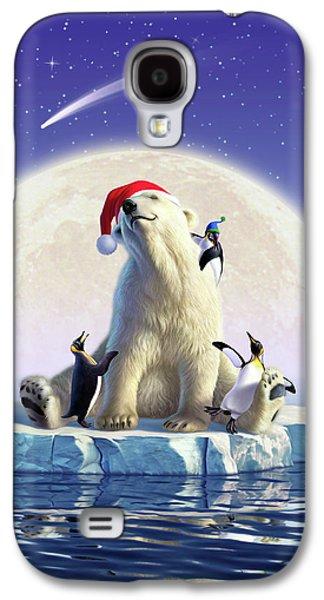 Polar Bear Galaxy S4 Case - Polar Season Greetings by Jerry LoFaro