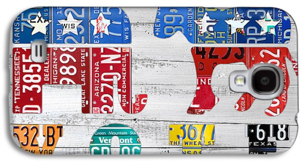 Political Party Election Vote Republican Vs Democrat Recycled Vintage Patriotic License Plate Art Galaxy S4 Case by Design Turnpike