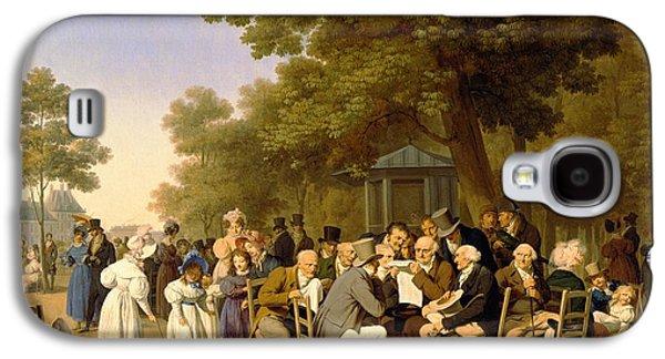 Politicians In The Tuileries Gardens Galaxy S4 Case
