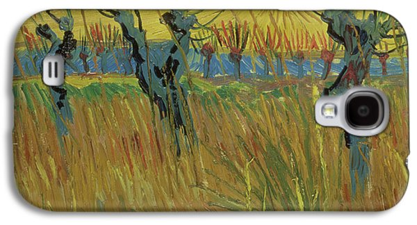 Pollarded Willows And Setting Sun Galaxy S4 Case by Vincent Van Gogh