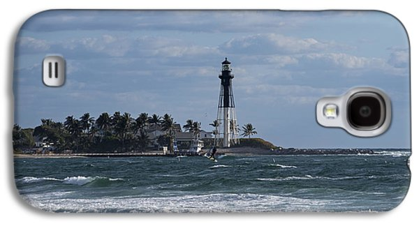 Pompano Beach Kiteboarder Hillsboro Lighthouse Catching Major Air 2 Galaxy S4 Case by Toby McGuire