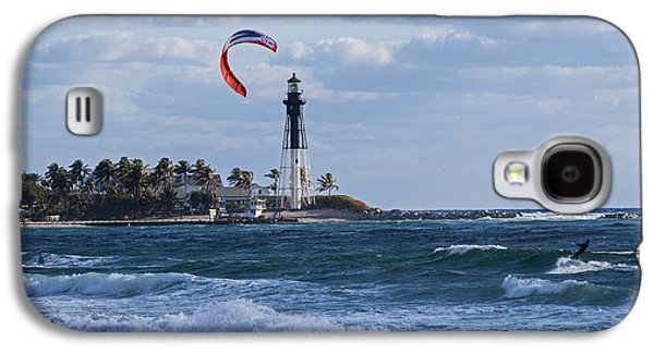 Pompano Beach Kiteboarder Hillsboro Lighthouse Galaxy S4 Case by Toby McGuire
