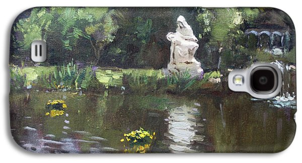 Pond At Our Lady Of Fatima Lewiston Galaxy S4 Case by Ylli Haruni