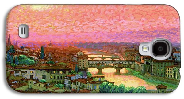 Town Galaxy S4 Case - Ponte Vecchio Sunset Florence by Jane Small