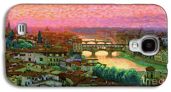 Impressionism Galaxy S4 Case - Ponte Vecchio Sunset Florence by Jane Small