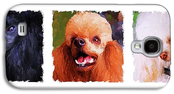 Poodle Galaxy S4 Cases - Poodle Trio Galaxy S4 Case by Jai Johnson