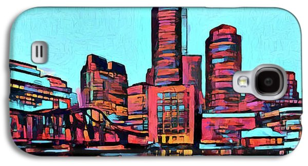 Pop Art Boston Skyline Galaxy S4 Case by Dan Sproul