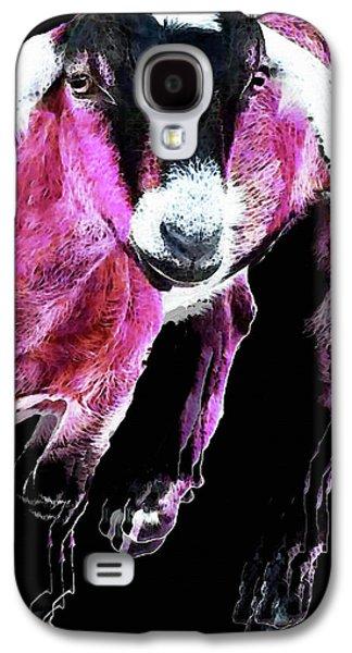 Pop Art Goat - Pink - Sharon Cummings Galaxy S4 Case by Sharon Cummings