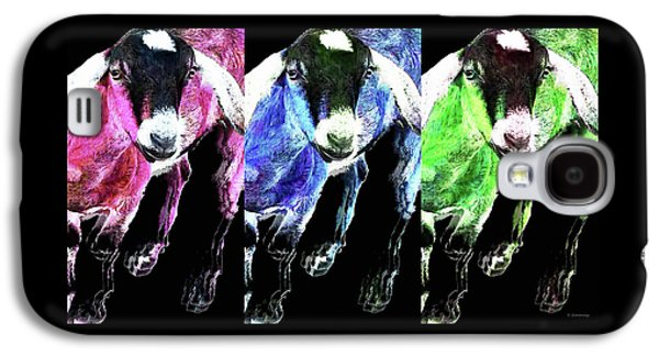 Pop Art Goats Trio - Sharon Cummings Galaxy S4 Case by Sharon Cummings