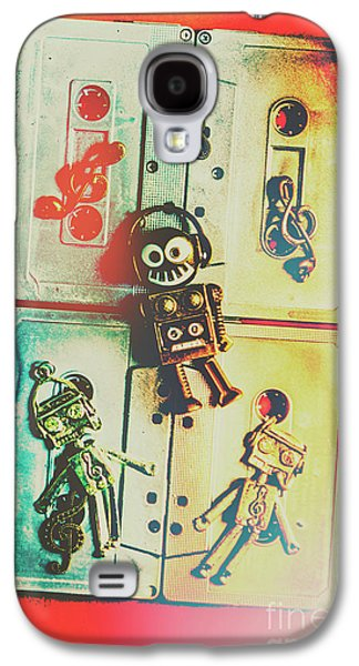 Pop Art Music Robot Galaxy S4 Case