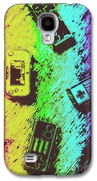 Pop Art Video Games Galaxy S4 Case