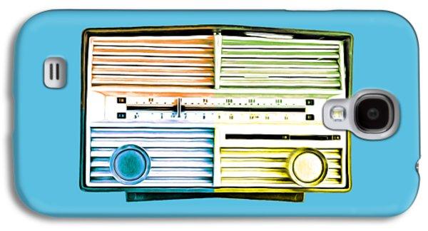 Pop Radio Tee Galaxy S4 Case by Edward Fielding