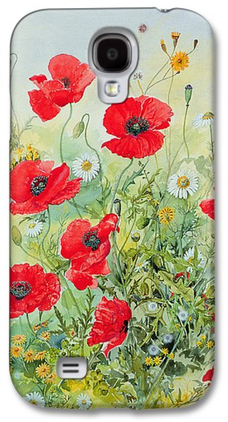 Poppies And Mayweed Galaxy S4 Case by John Gubbins