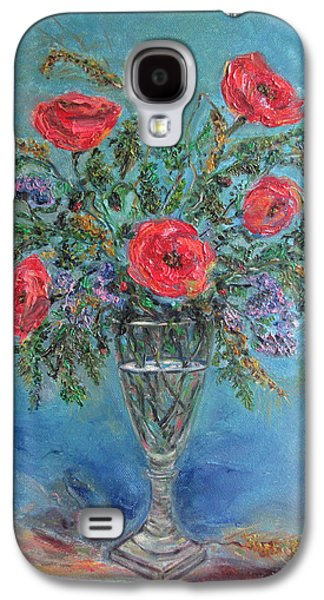 Poppies In A Glass Of Water  Galaxy S4 Case by Katia Iourashevich Ricci