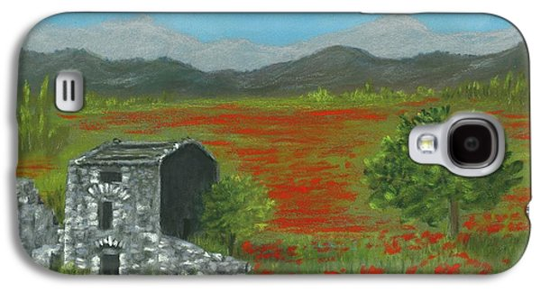 Poppies In Provence  Galaxy S4 Case by Anastasiya Malakhova