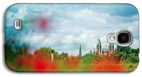 Poppy Field And Speyer Cathedral Galaxy S4 Case by Nailia Schwarz