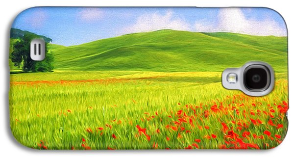 Poppy Field Galaxy S4 Case by Veikko Suikkanen