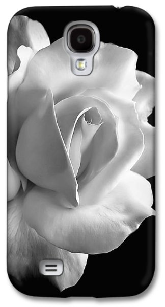 Porcelain Rose Flower Black And White Galaxy S4 Case