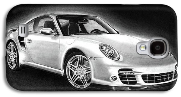 Pencil Galaxy S4 Cases - Porsche 911 Turbo    Galaxy S4 Case by Peter Piatt