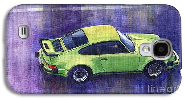 Car Galaxy S4 Case - Porsche 911 Turbo Green by Yuriy Shevchuk
