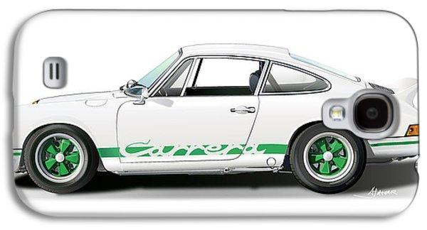 Porsche Carrera Rs Illustration Galaxy S4 Case by Alain Jamar