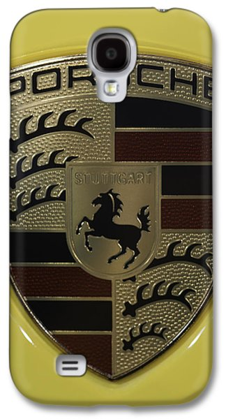 Porsche Emblem On Racing Yellow Galaxy S4 Case