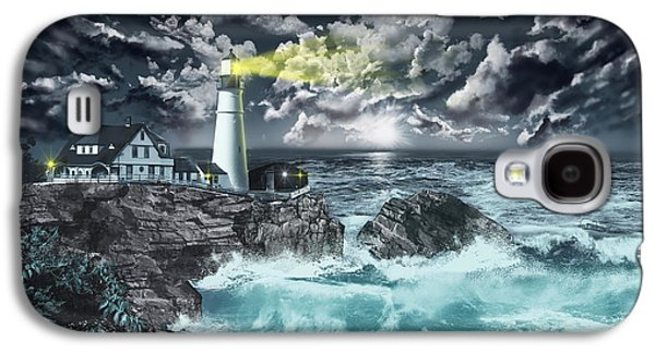 Portland Head Light Galaxy S4 Case by Bekim Art