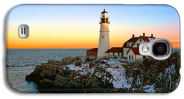 Portland Head Light Winter Sunset Galaxy S4 Case