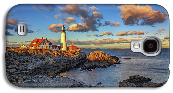 Portland Head Lighthouse At Sunset Galaxy S4 Case by Rick Berk