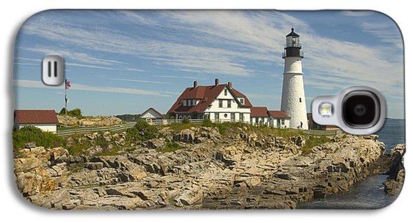Maine Lighthouses Galaxy S4 Cases - Portland Head Lighthouse Galaxy S4 Case by Mike McGlothlen