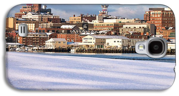 Portland Maine Winter Skyline Galaxy S4 Case by Eric Gendron