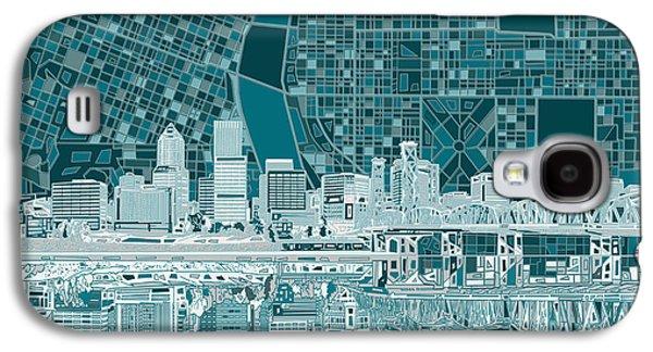 Portland Skyline Abstract 10 Galaxy S4 Case
