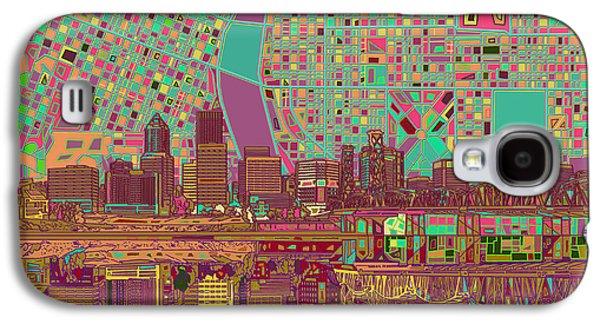 Portland Skyline Abstract 2 Galaxy S4 Case