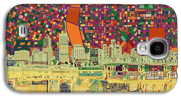 Portland Skyline Abstract 3 Galaxy S4 Case