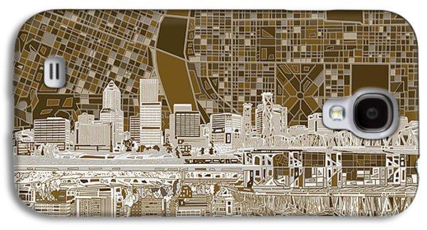 Portland Skyline Abstract 6 Galaxy S4 Case