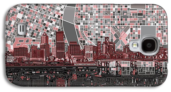 Portland Skyline Abstract 8 Galaxy S4 Case