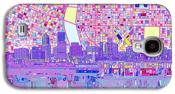 Portland Skyline Abstract Galaxy S4 Case