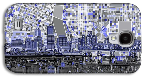 Portland Skyline Abstract Nb Galaxy S4 Case