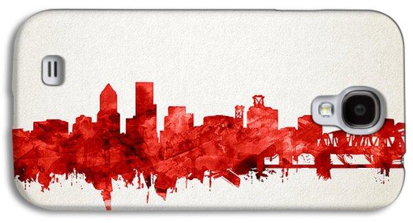 Portland Skyline Watercolor 3 Galaxy S4 Case