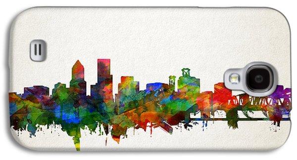 Portland Skyline Watercolor 5 Galaxy S4 Case
