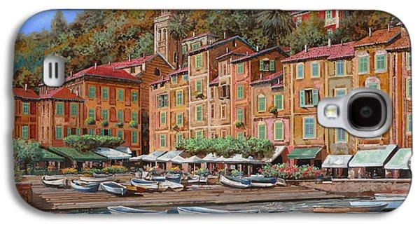 Portofino-la Piazzetta E Le Barche Galaxy S4 Case by Guido Borelli