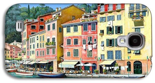 Portofino Sunshine 30 X 40 Galaxy S4 Case by Michael Swanson