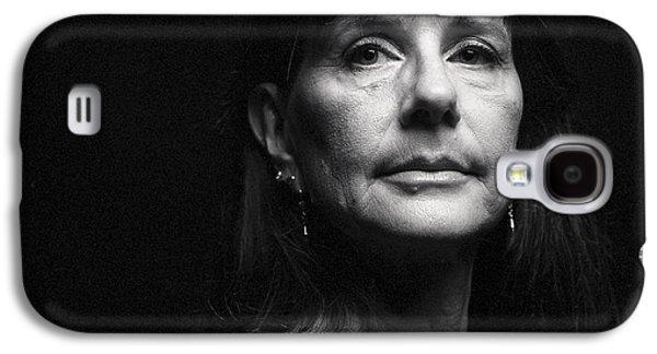 Portrait In Black Galaxy S4 Case by Shawn Jeffries