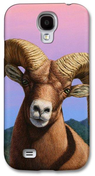 Animal Galaxy S4 Cases - Portrait of a Bighorn Galaxy S4 Case by James W Johnson