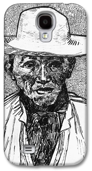 Portrait Of A Farmer Galaxy S4 Case by Vincent Van Gogh